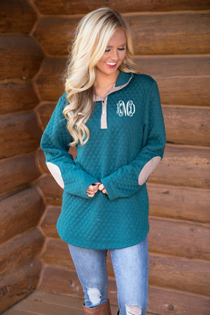 Bring On Fall Pullover Evergreen