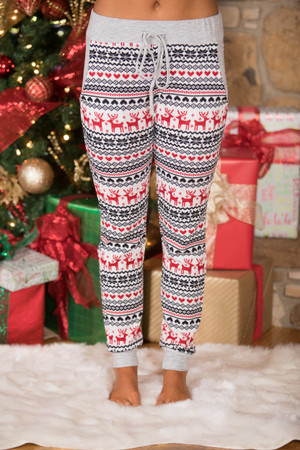 Snow Bunny Printed Lounge Pants   SALE