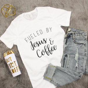 Fueled By Jesus And Coffee Graphic Tee