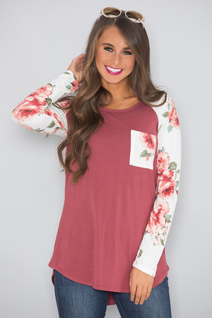 Precious Promises Floral Blouse CLEARANCE