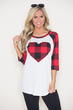 Everyday Romance Plaid Blouse CLEARANCE