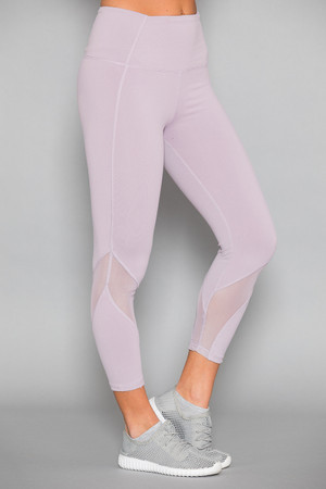Midday Mood Athletic Capris Lavender