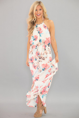 Let Your Dreams Blossom Floral Maxi Dress