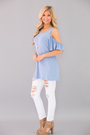 Follow This Love Blouse Sky Blue