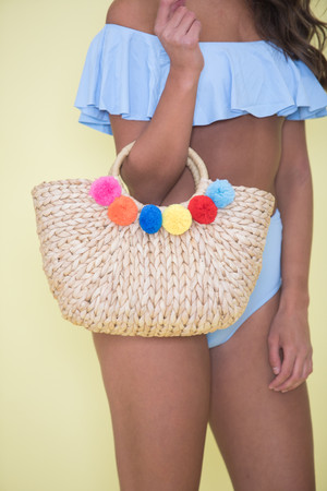 Vacay Is Calling Straw Bag