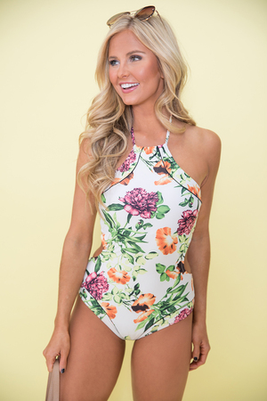 Girls Just Wanna Have Sun Floral Swimsuit