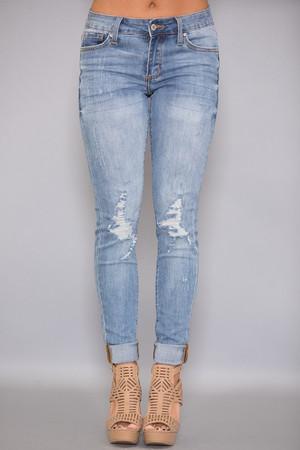 The Ashton Light Wash Distressed Jeans