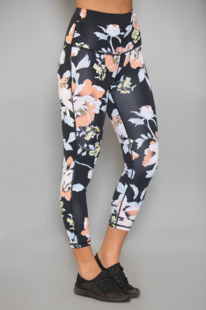 Daily Dose Of Floral Athletic Capris