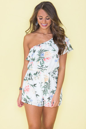 Let's Get Lost In A Dream Floral Romper