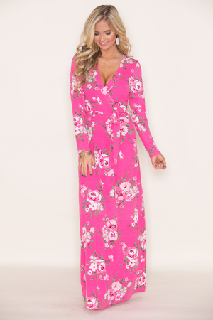 Finding Love Floral Maxi Dress Pink
