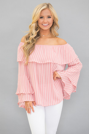 Wish For You Striped Blouse