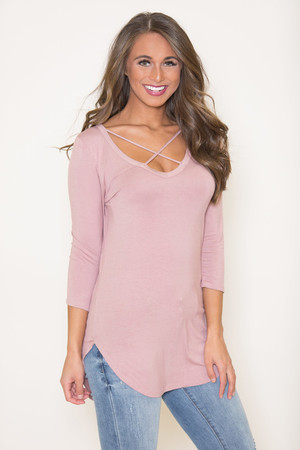Happy You're Here Blouse Mauve