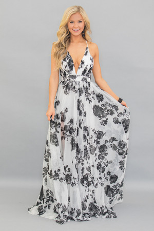 Beautiful Drama Floral Maxi Dress