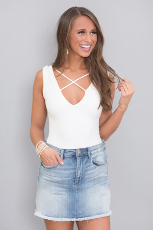 Surely Sweet Bodysuit White