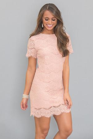 Give Me A Lifetime Lace Dress Blush