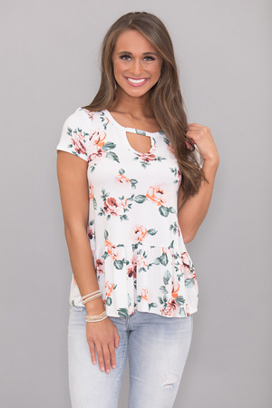 All That Charm Floral Blouse