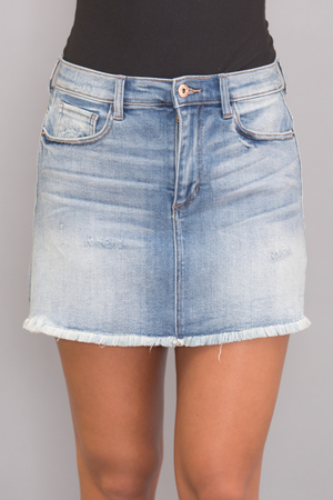 Chase Away My Blues Denim Skirt