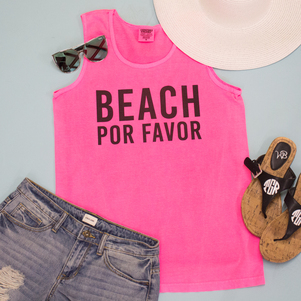 Beach Por Favor Graphic Tank