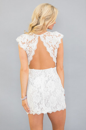 Forever Divine White Lace Dress