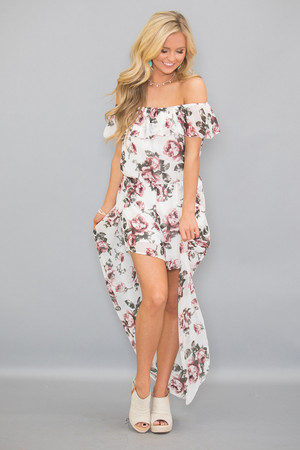 Can't Resist Your Charms Floral Maxi Romper