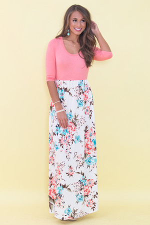 Everlasting Moments Floral Maxi Dress