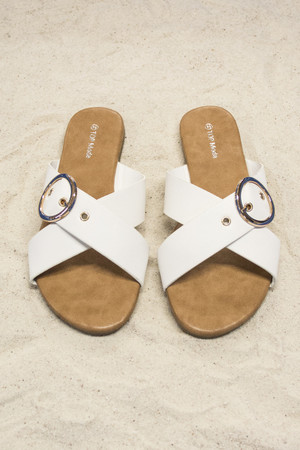 The Chelsea Sandals White