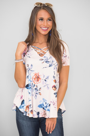 Inspired By Your Heart Floral Blouse