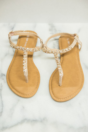 The Lillie Sandals Champagne