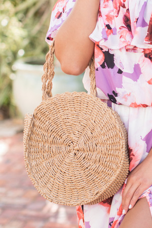 Let's Make Our Getaway Straw Bag