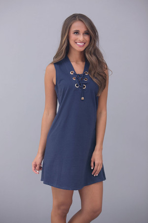 Cruise Away With My Heart Dress Navy
