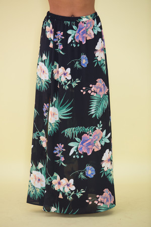 Don't Count The Days Floral Maxi Skirt