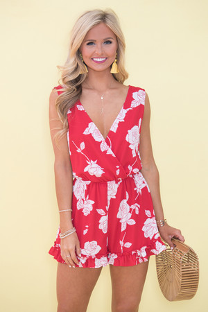 Such A Wonderful Love Floral Romper