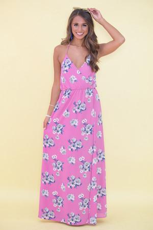 Infinite Love Floral Maxi Dress Purple CLEARANCE
