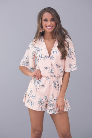 No Limit To My Love Floral Romper