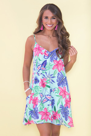 Explore New Shores Printed Dress