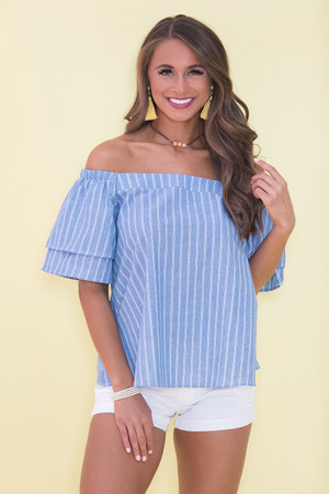 Passing The Time Striped Blouse