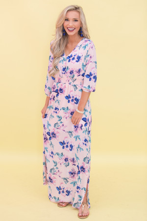 Promise To Love You Floral Maxi Dress