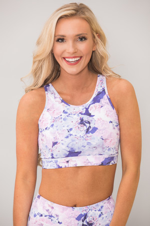 A Bright Future Floral Sports Bra