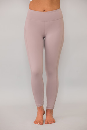 A Serene Evening Athletic Leggings Faded Plum