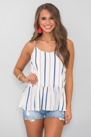 Out For Love Striped Tank