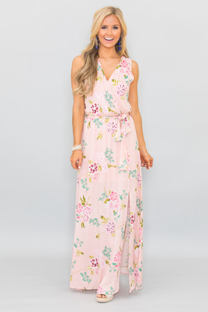 Blissfully Kissed Floral Maxi Dress