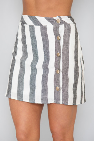 New Places To See Striped Skirt
