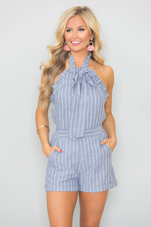Show Off My Style Striped Romper