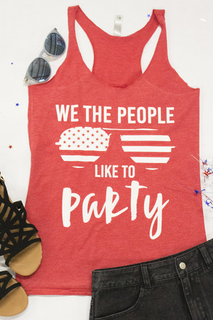 We The People Like To Party Graphic Tank