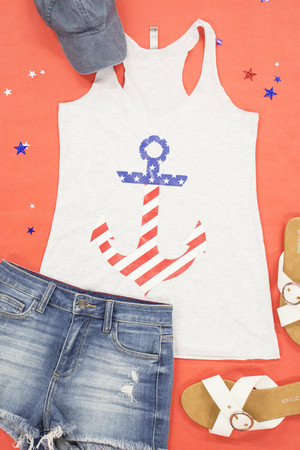 Anchor Flag Graphic Tank