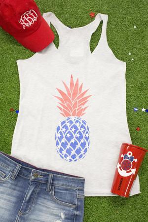 Patriotic Pineapple Graphic Tank
