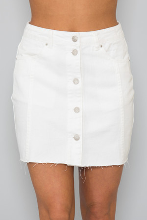 Make Your Own Luck Skirt Ivory