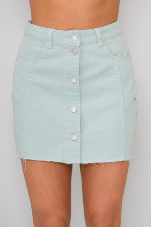 Make Your Own Luck Skirt Faded Mint