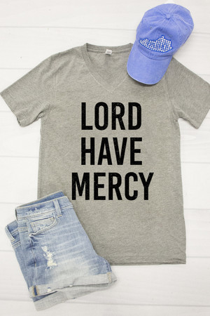 Lord Have Mercy V-Neck Graphic Tee