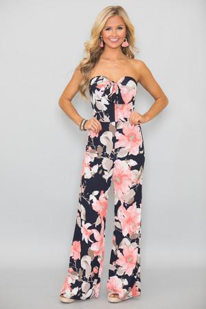 My Favorite Night Floral Jumpsuit